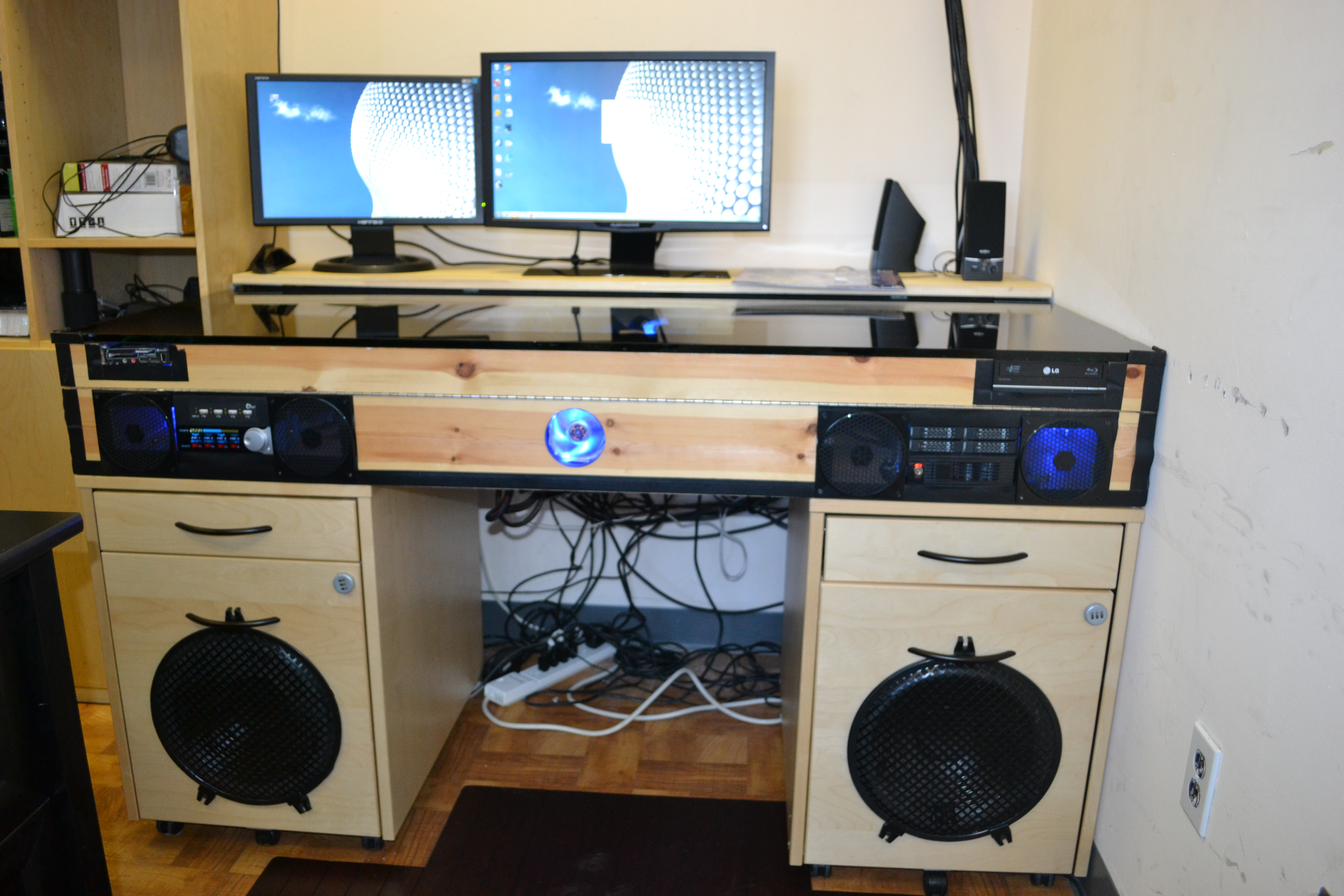 Desk with Built in PC