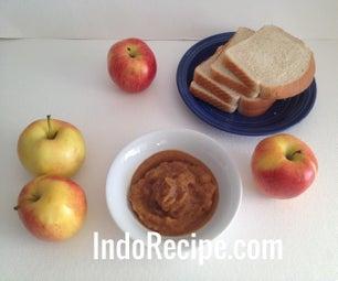 Palm Sugar Applesauce - Microwave