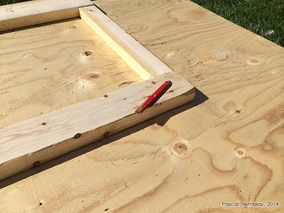 Measuring and Cutting the Shed Door