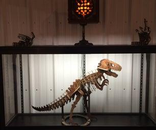 Wire Bound Sheet Metal Dinosaur Skeletons