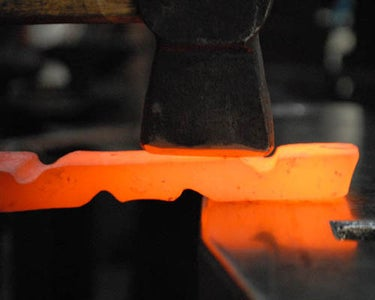 Forging the Cheeks to Thickness and Profiling Their Width