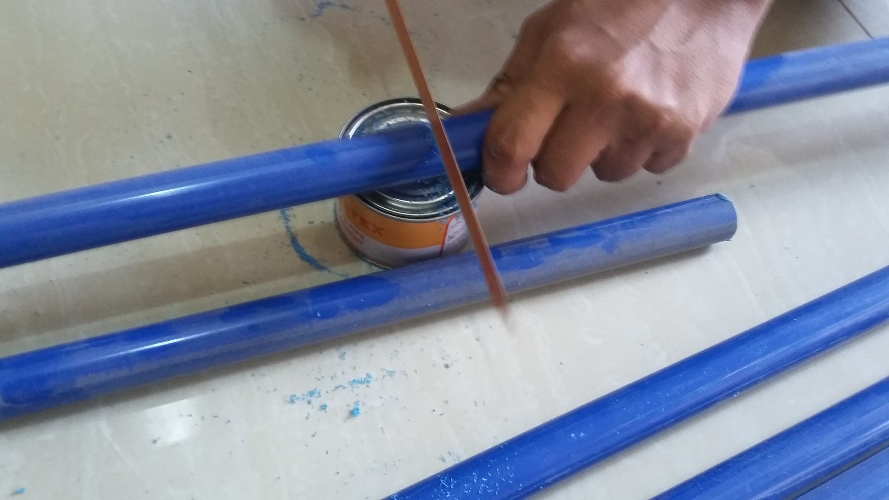 Measuring and Cutting of PVC Pipe