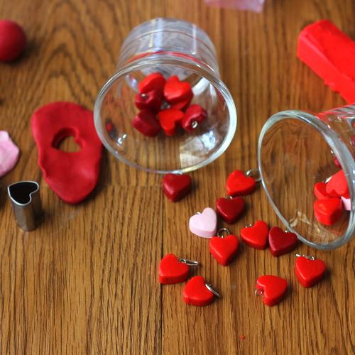 Heart charms (DIY)
