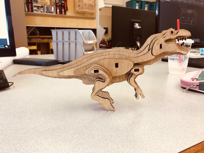 3D Wood T-Rex