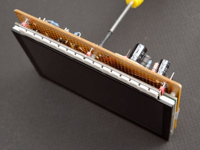 Locate the WS2812b LED Strip on the Strip-board (optional)