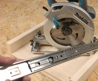 Cross Cut Jig for Circular Saw Using Drawer Slides