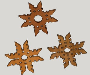 木制雪花和星饰品