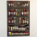 Spice & Hot Sauce Rack From A Pallet