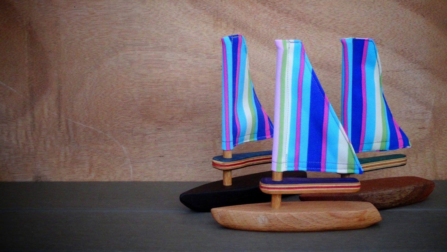 Wooden Toy Sailboats