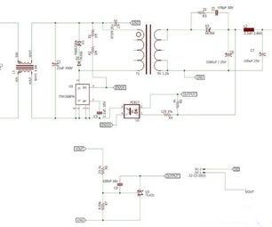 12V 1A SMPS Power Supply Circuit Design
