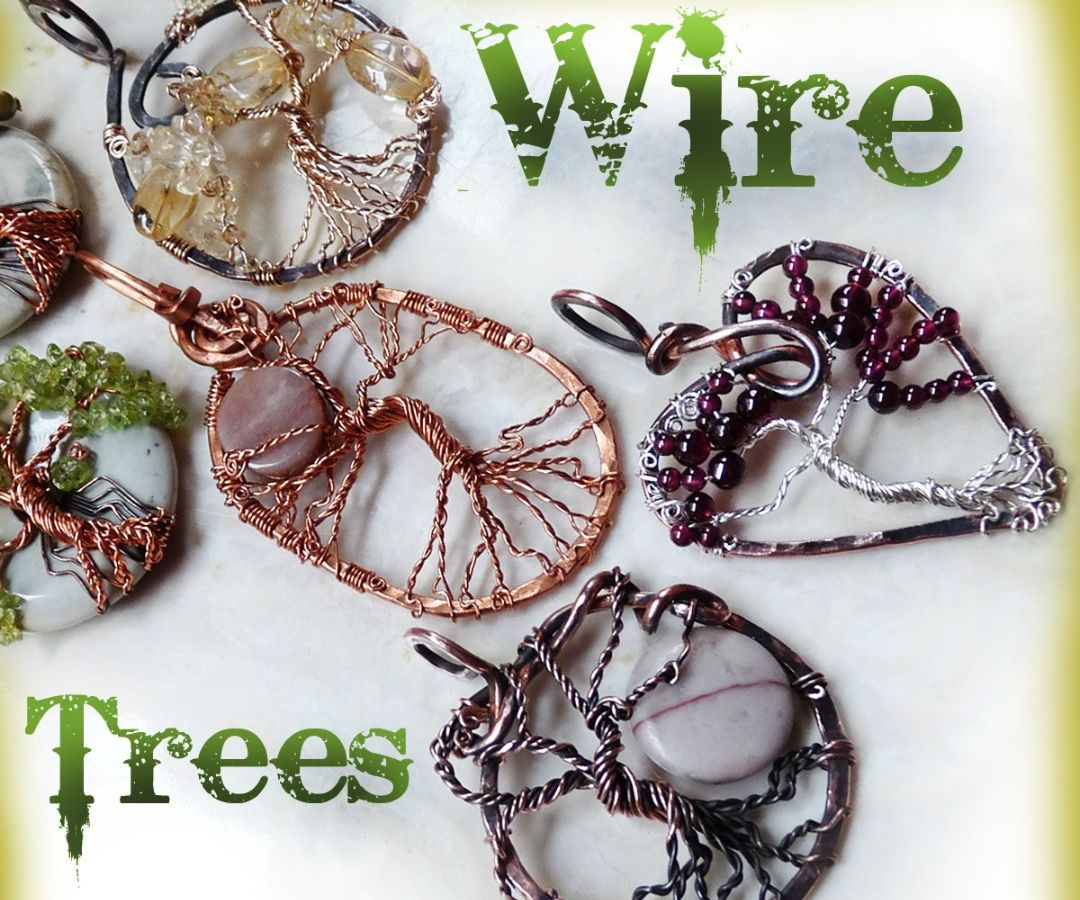 Hammered Wire Tree Necklace