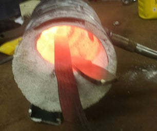 Tempering a Knife Using My Coffee Can Forge.