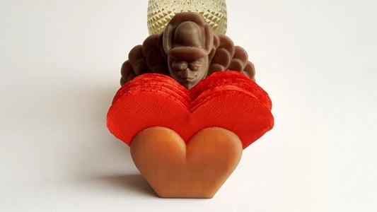 Valentine's Themed Turkey Heart - Coaster Planter Holder