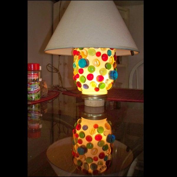 Make a Mason Jar Bauble Lamp