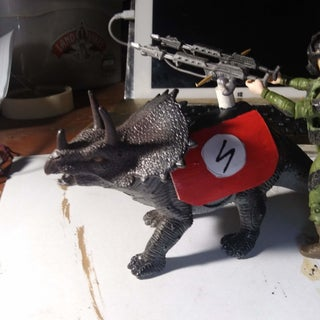 Weaponised Toy Dinosaurs