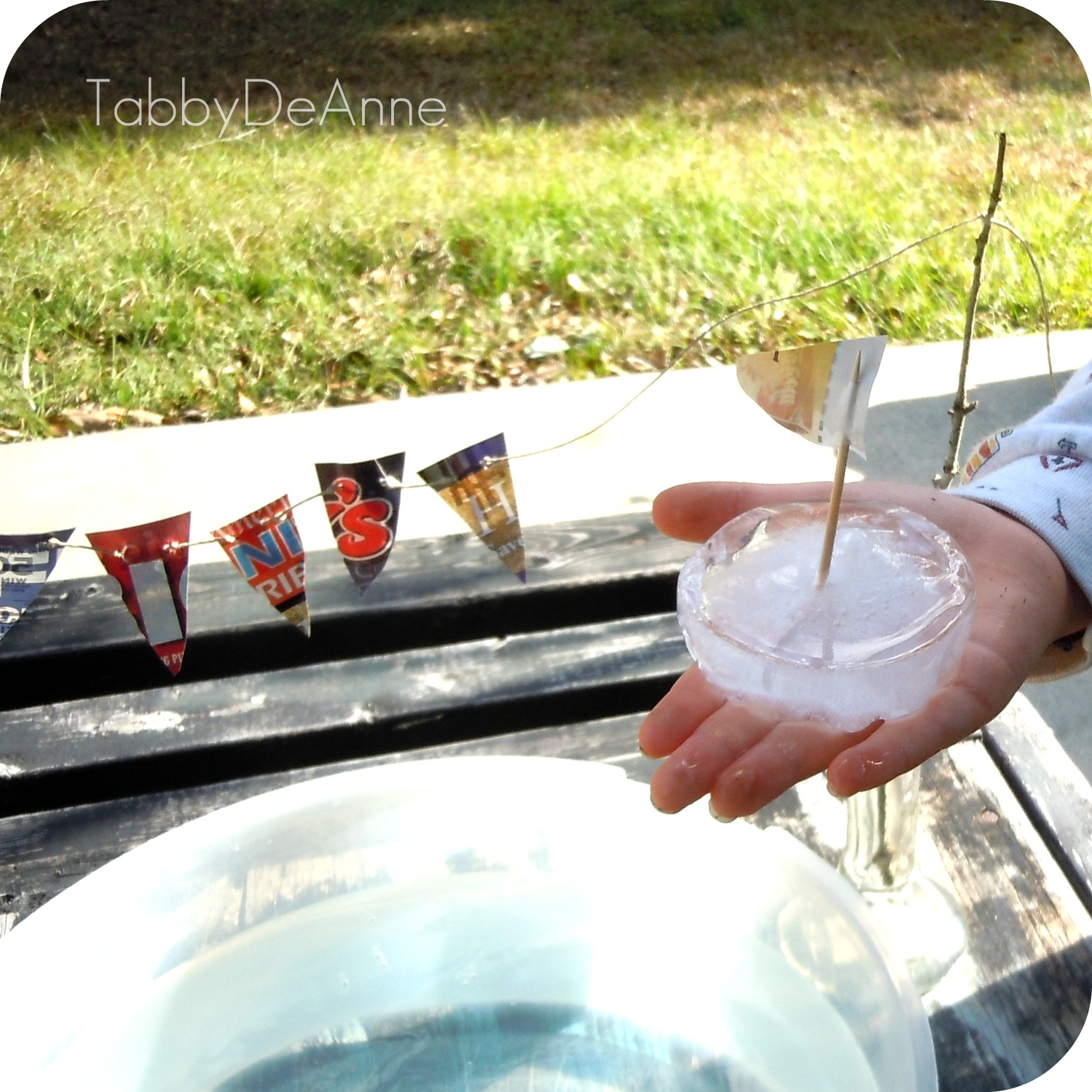 Kids Ice Boat made out of Ice!! Eco-Friendly & FREE! Fun Kids Toy!