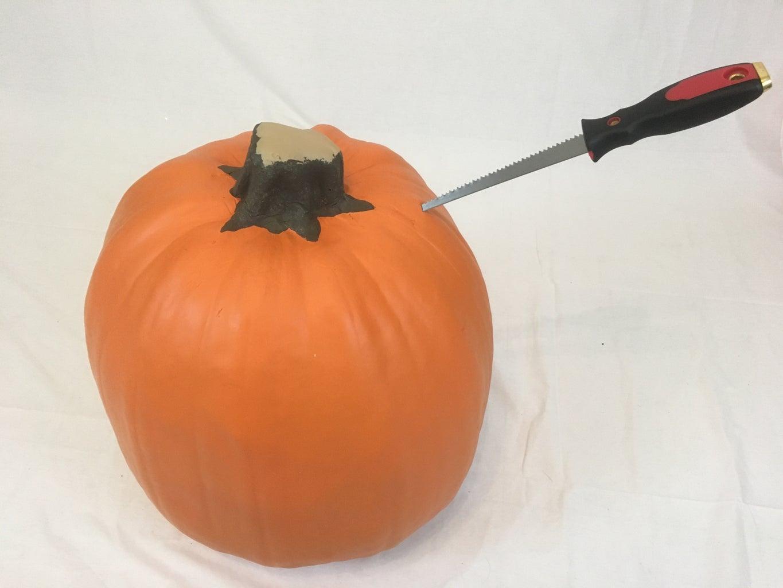 Carving Foam Pumpkins - Lid