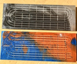 CNC Epoxy Cribbage Board