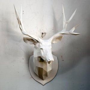 DIY Papercraft - Deer PDF Template