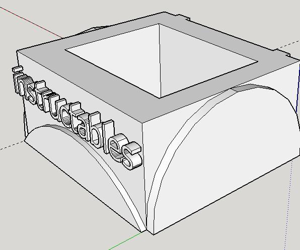 Google SketchUp(very Simple 3D Printing Box Design)