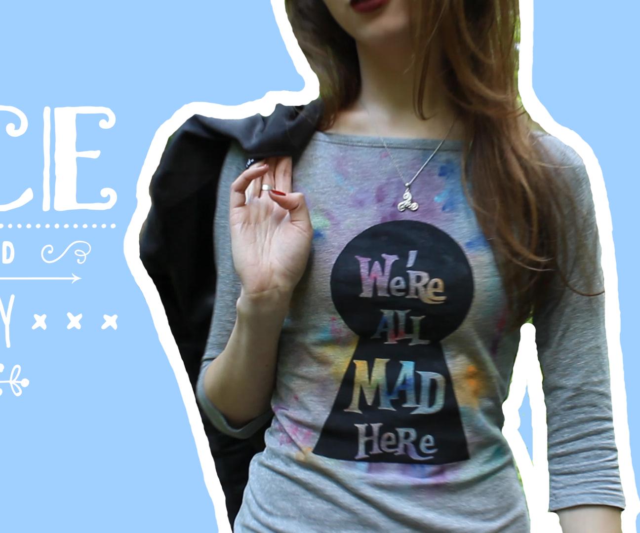 T-Shirt Alice in Wonderland DIY
