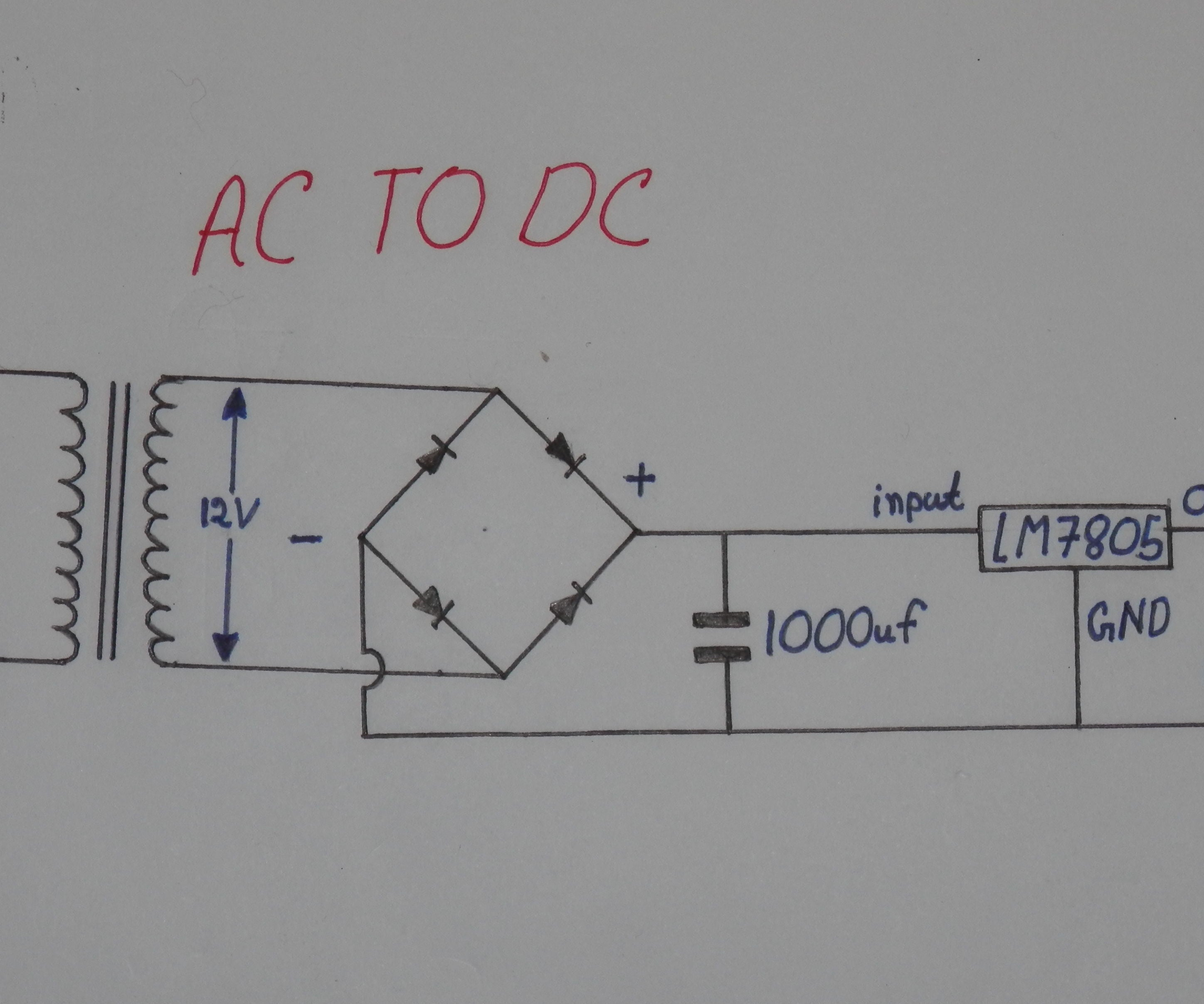 How To Convert 220v Ac To 5v Stable Dc 5 Steps Instructables