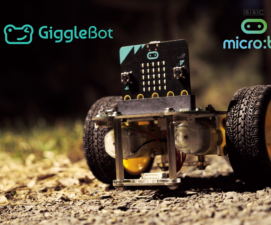 GiggleBot Light Follower - on Gravel