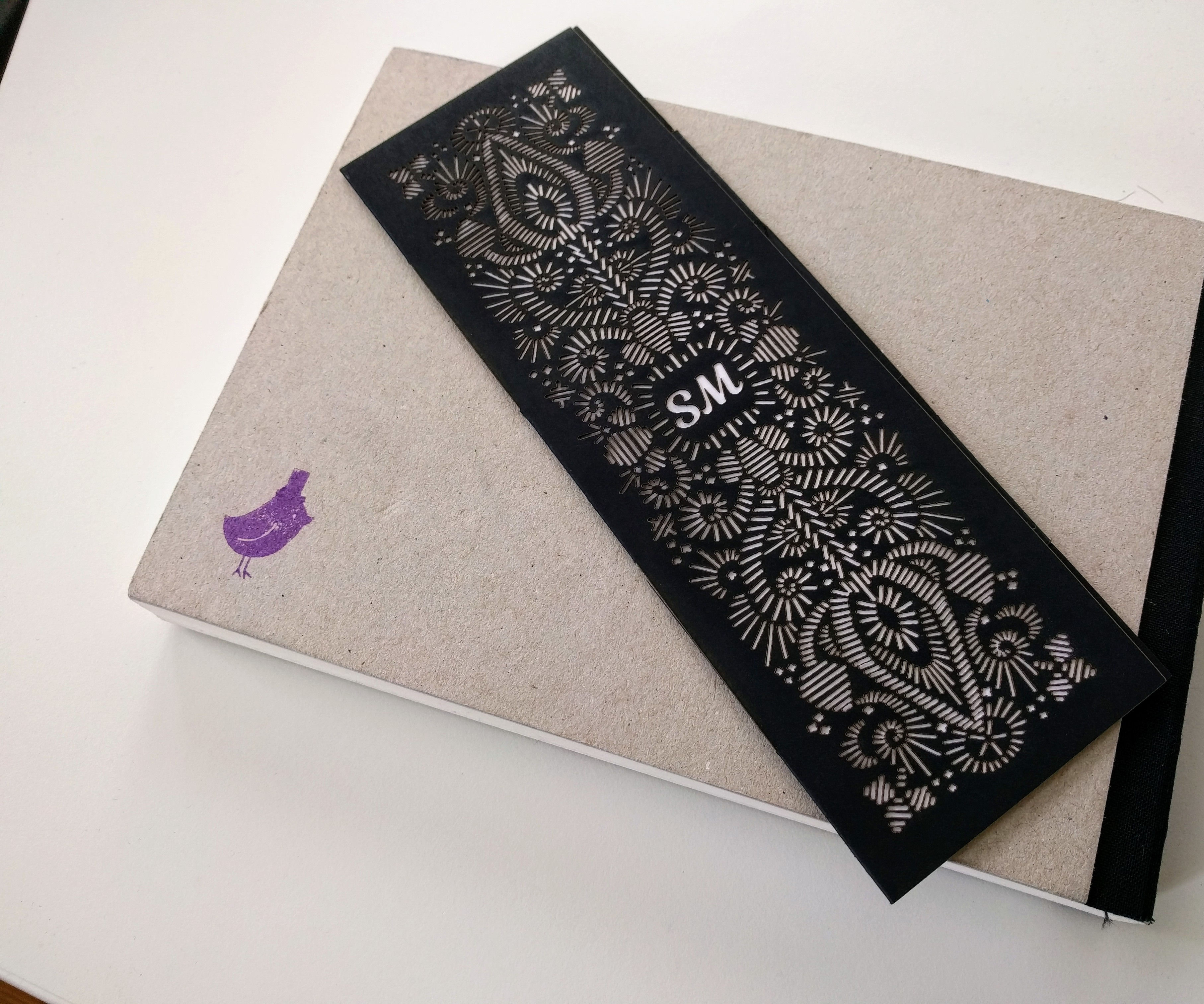 Intricate Quill Emroidery Style Paper Bookmark