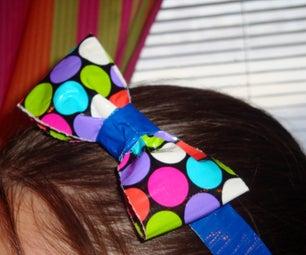 Duct Tape Bow Headband