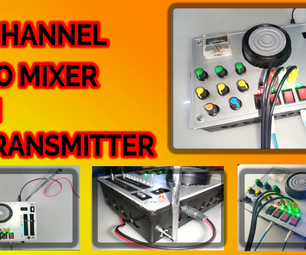 3 CHANNEL AUDIO MIXER Integrated With an FM Radio Transmitter