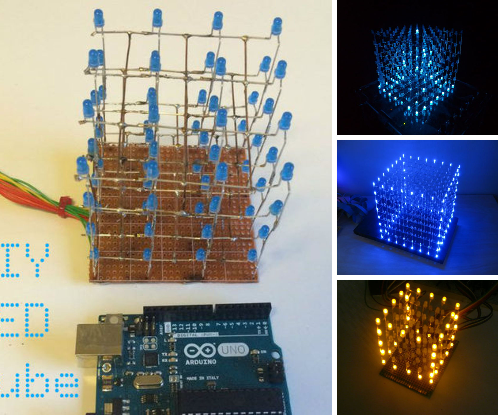 LED cube projects