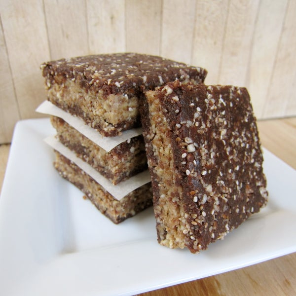 Raw Chocolate Peanut Butter Brownies
