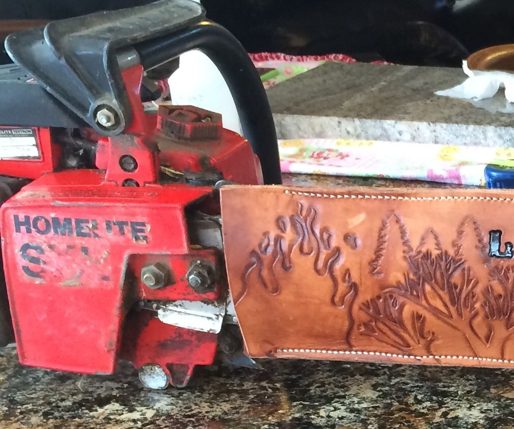Leather Chainsaw cover