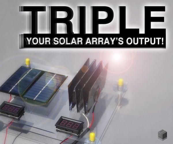 TRIPLE YOUR SOLAR ARRAY'S OUTPUT!