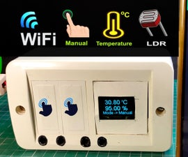 Home Automation With NodeMCU Touch Sensor LDR Temperature Control Relay