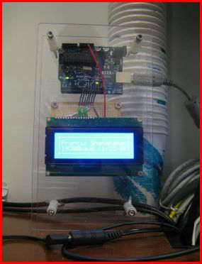 Arduino with 4x20 LCD and LCD Smartie over USB
