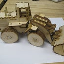 Laser Cut Front End Loader Toy