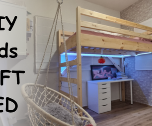 DIY Kids Loft Bed That'll SAVE YOU SPACE