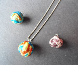 Polymer Clay Ball of Mystery Pendant