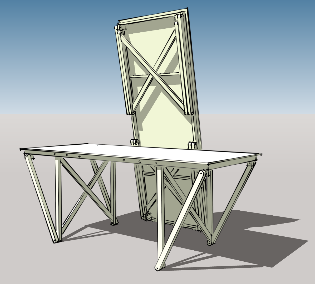 A Folding and Steady Work Bench