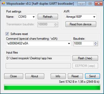 Half-duplex UART Bootloader (Visual C#)