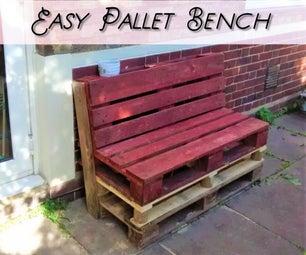 Backyard Pallet Bench