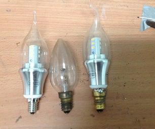 DIY E14 to E12 Light Bulb Adapter From a E14 Lightbulb