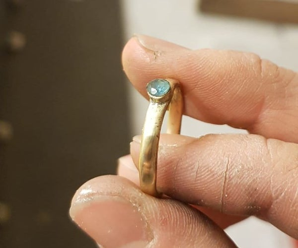 Faux Gold Ring From a Brass Nut