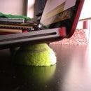 Easy tennisball laptop stand