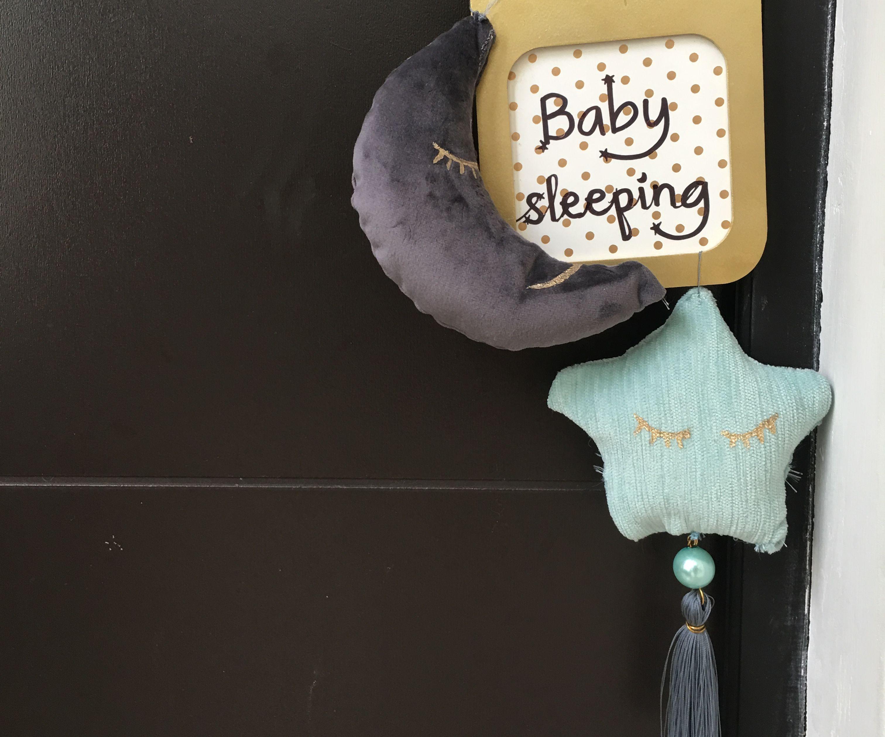 Baby Sleeping Door Sign