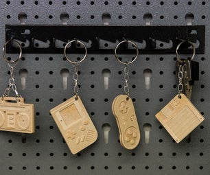 CNC-milled 90s Style Retro Keychains