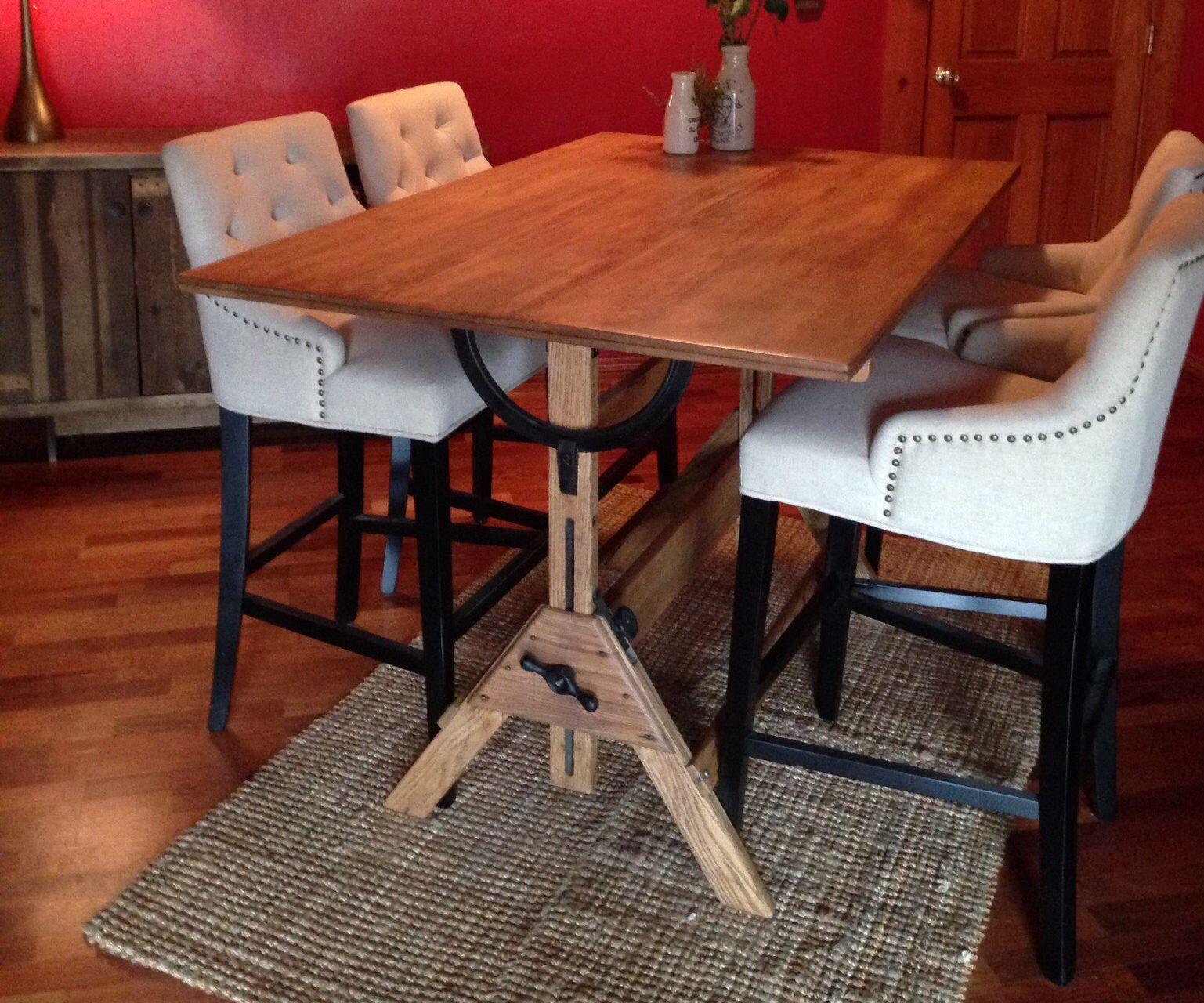 Restoring and Repurposing a Drafting Table as a Dining Table