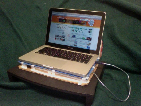 USB Powered Cardboard Laptop Cooling Tray