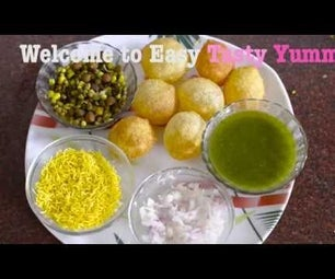 Pani Puri : Nutritious Pani Puri Recipe : How to Make Pani Puri ? Easy Tasty Yummy